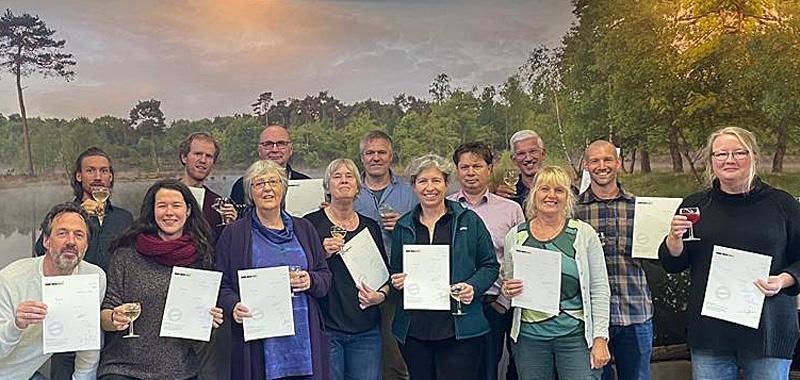 groepsfoto gecertificeerde trainees Schaal van Samenwerking NL